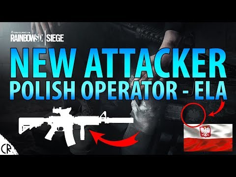 Polish Operator Ela Revealed M4/AR15 - Official Hong Kong - Tom Clancy's Rainbow Six Siege - R6