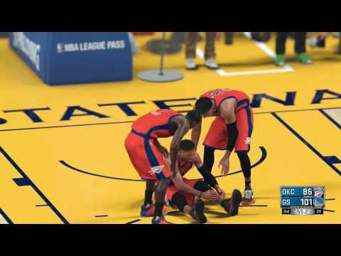 NBA 2K17 Russell Westbrook Injury!