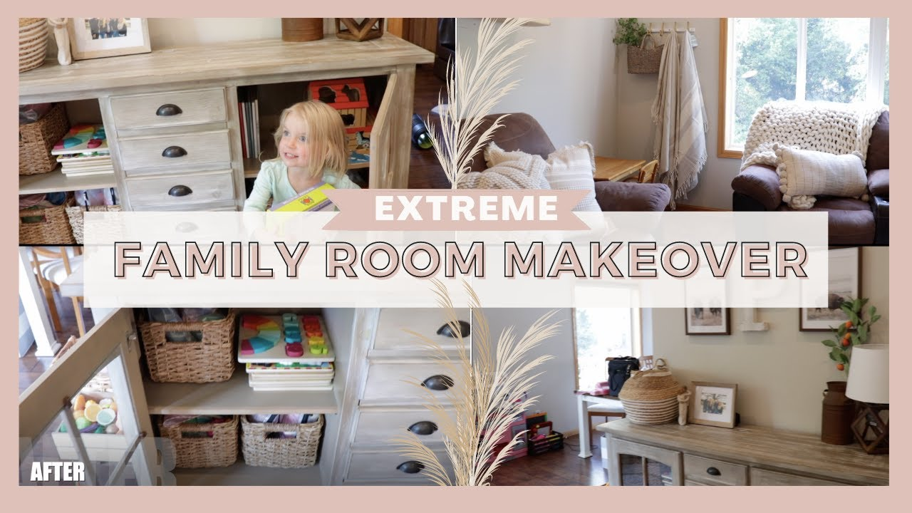 *NEW* FAMILY ROOM MAKEOVER // LIVING ROOM DECORATING IDEAS // TOY ORGANIZATION