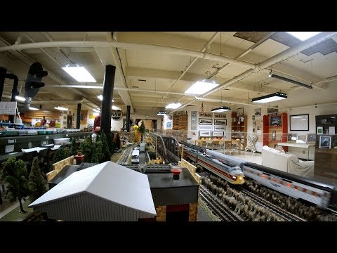 Model Train Layout Erie, Great Northern, Penn Central, CN, Canadian Pacific, AMTRAK, Burlington