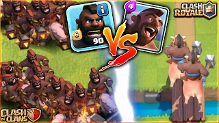 Clash Royale - HOG RIDER VS Clash Of Clans - HOG RIDER | TROOP AND CARD FACE-OFF WHO WILL WIN?!