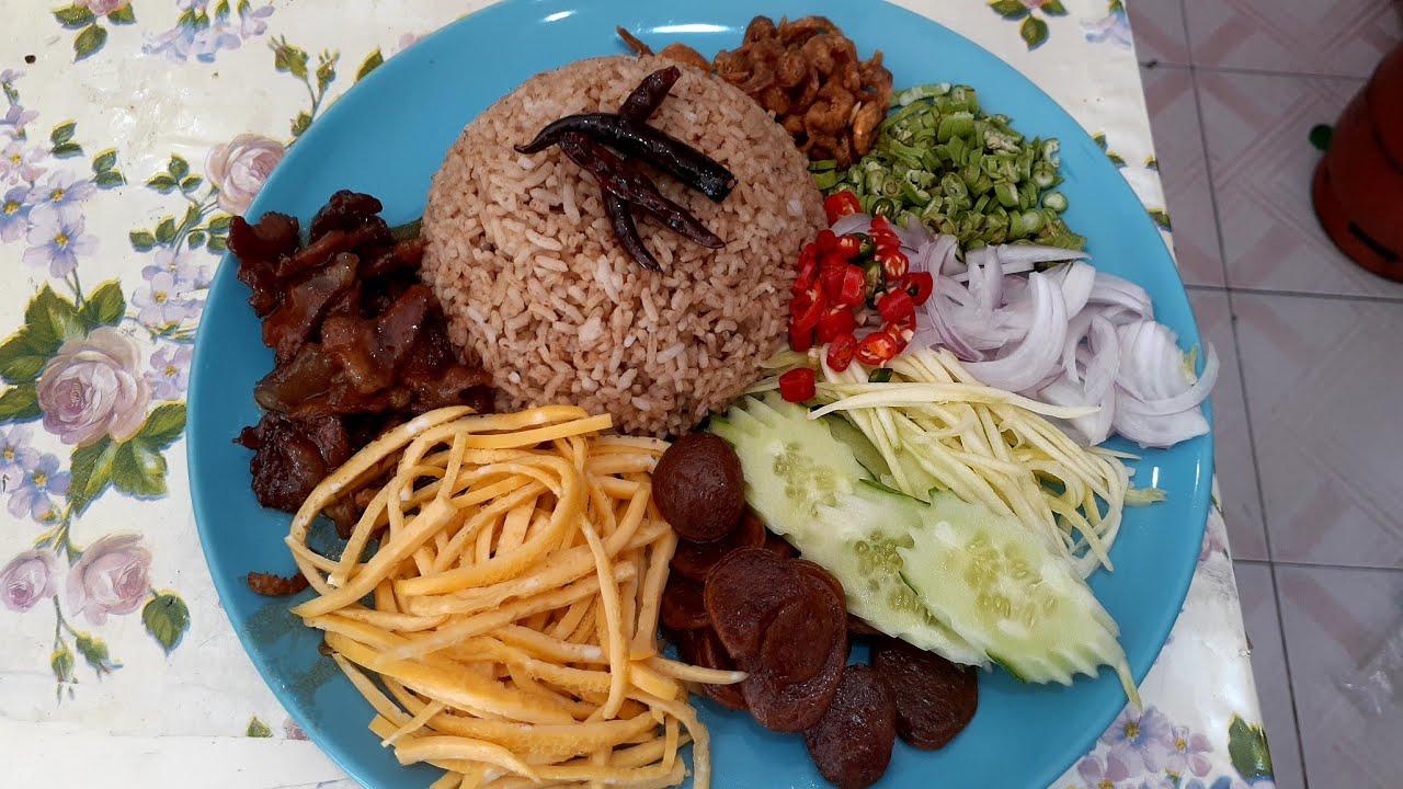 ข้าวคลุกกะปิพร้อมวิธีทําหมูหวาน#เมนูโปรด#อาหารไทย#thaifood