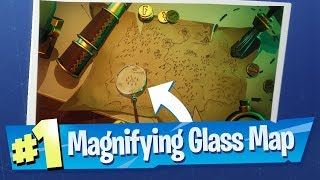 Where The Magnifying Glass Sits On Treasure Map - Fortnite Battle Royale (Season 8 Week 3 Challenge)