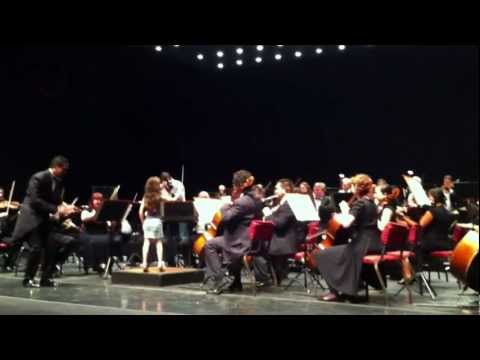 Zara conducting the Cape Town Philharmonic Orchestra