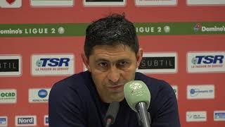 Après Valenciennes - HAC (1-0), réaction d'Oswald Tanchot
