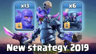 """New Strategy 2019? It""""s Pekka Time Max 6 Pekka Totally Destroy TH12 War Bases 