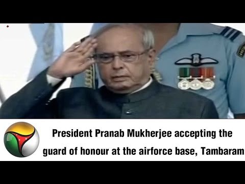 Tambaram Airforce Station Officers Honours President Pranab Mukherjee | Full Video