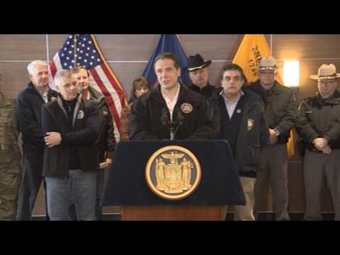 Governor Cuomo Holds Briefing on Extreme Winter Storm in Oneida County