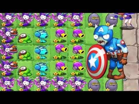 Plants vs Zombies 3 -2 -1 Captain America vs Hulk Gargantuars! Fan Made