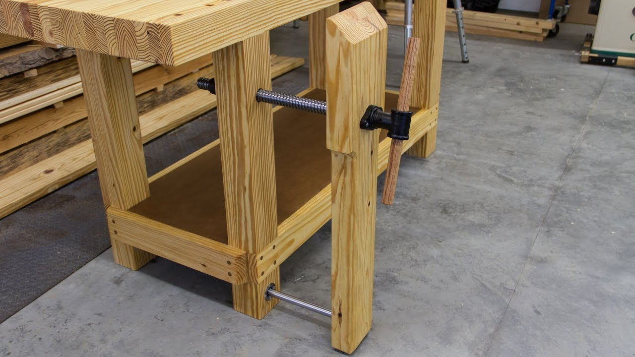 Build A Workbench Leg Vise Youtube