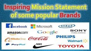 Inspiring Vision statement of some popular brands (facebook, google, amazon, microsoft, Paypal ,etc)