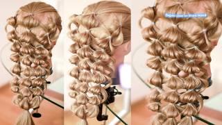 Коса без плетения  Пузырьки  Причёска на резинках ПОДРОБНЫЙ ВИДЕО УРОК Hair tutorial
