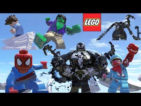 Lego Charaters Transformation (Hulk,Red Hulk,Venom,Spider-Man) & Kids Rhymes