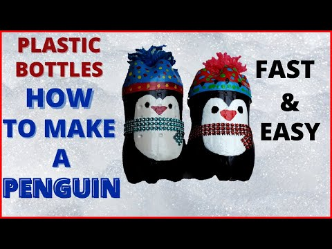 DIY | How to make at home a penguin from recycled plastic bottles | Do it Yourself | Easy & Fast