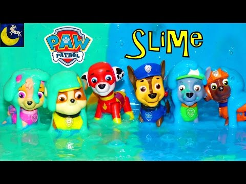 Thumbnail: Paw Patrol Super Heroes Pup Toys Make SLIME Putty Surprise Chase Marshall Rocky Rubble Skye Toys!