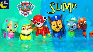 Paw Patrol Super Heroes Pup Toys Make SLIME Putty Surprise Chase Marshall Rocky Rubble Skye Toys!