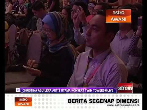 Christina Aguilera artis utama konsert Twin Towers@Live Travel Video