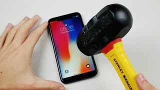 iPhone X Hammer & Knife Scratch Test!