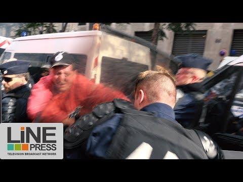 Manifestation des métallurgistes. Colère ouvrière. Incidents / Paris - France 13 octobre 2017