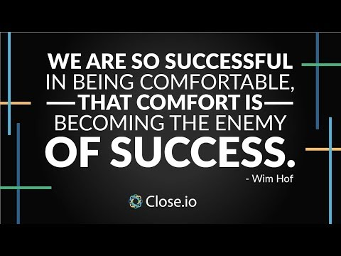 Sales motivation quote: We are so successful in being comfortable, that...