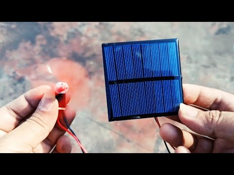 Mini solar panel unboxing and testing with LEDs and DC Motor | 6V ,100 mA Solar Panel AMAZON