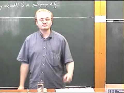 Group Theory, Robert de Mello Koch | Lecture 1 FULL