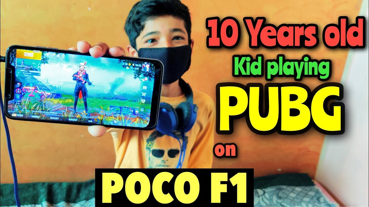POCO F1 || 10 YEARS old kid Playing || PUBG MOBILE || Handcam Gameplay
