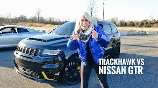 Download World's Most Powerful SUV Drag Race  | Trackhawk Jeep Mp3 and Videos