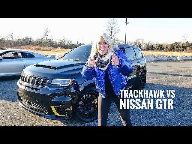 World's Most Powerful SUV Drag Race  | Trackhawk Jeep