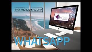 Android Studio ile whatsapp yapılışı