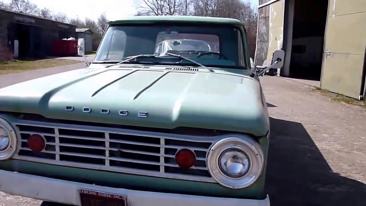1966 dodge d100 truck survivor at work 1960 desoto in tow youtube. Black Bedroom Furniture Sets. Home Design Ideas