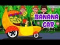 Fruits Car | Animated Banana Cartoon Car | Learn Fruits | Cartoon Videos for Kids
