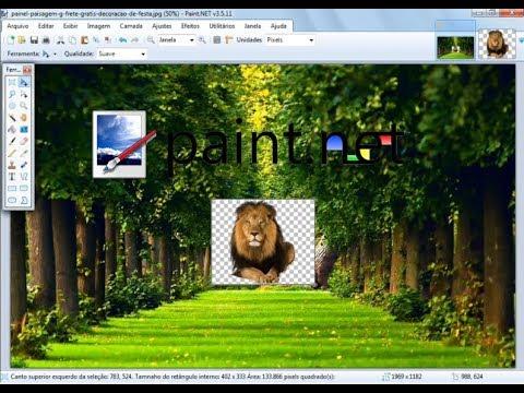 Paint.net – Como inserir PNG (Logo/transparência) em outra imagem [Sobreposição de imagens]