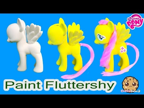 MLP Fluttershy Paint and Style My Little Pony Custom Craft Painting Playset - Cookieswirlc Video