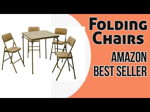 Folding Chairs Amazon Best Seller | Cosco Products 5-Piece Folding Table and Chair Set Reviews