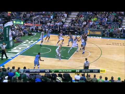 Memphis Grizzlies vs Milwaukee Bucks | March 17, 2016 | NBA 2015-16 Season
