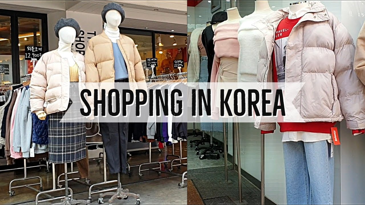 [VIDEO] - Shopping local Korean clothes fall and winter + Try On Lookbook 2