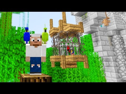 Minecraft Building w/ BdoubleO :: Bird Cage for Parrots! 432