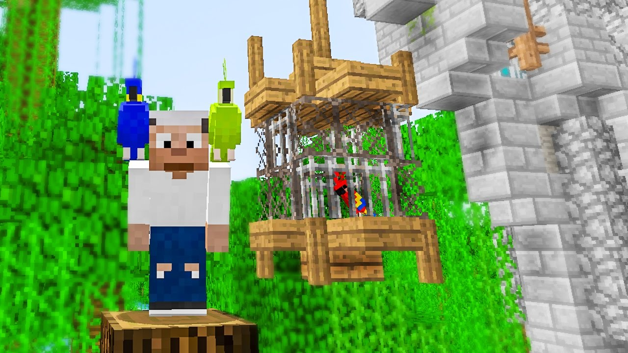 How To Build A Bird Cage In Minecraft