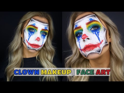 Clown Halloween Makeup/Face Art thumbnail
