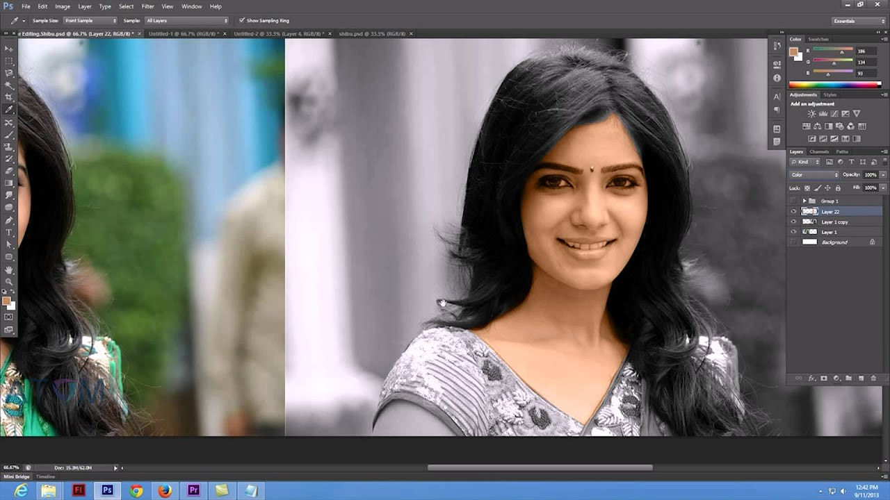 How to convert black and white photo to color in photoshop for Convert photo to coloring page photoshop