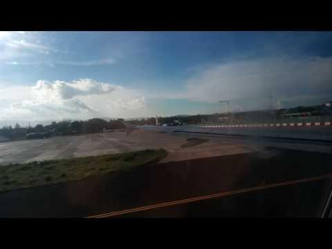 Philippine Airlines A320-200 landing at Mactan Cebu International Airport