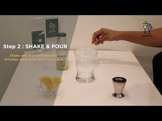 Whiskey Sour in 3 easy steps using Swizzle Cocktail Kit | Swizzle | Whiskey cocktail