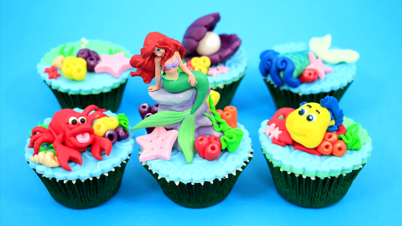 Ariel Cake Decorations Ariel Cupcakes How To Make By Cakes Stepbystep Youtube