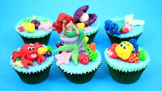 Princess ARIEL Cupcakes  How To Make  by Cakes StepbyStep