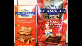 Ghirardelli Creamy Almond Crunch And Valentine's Dark & Strawberry Review