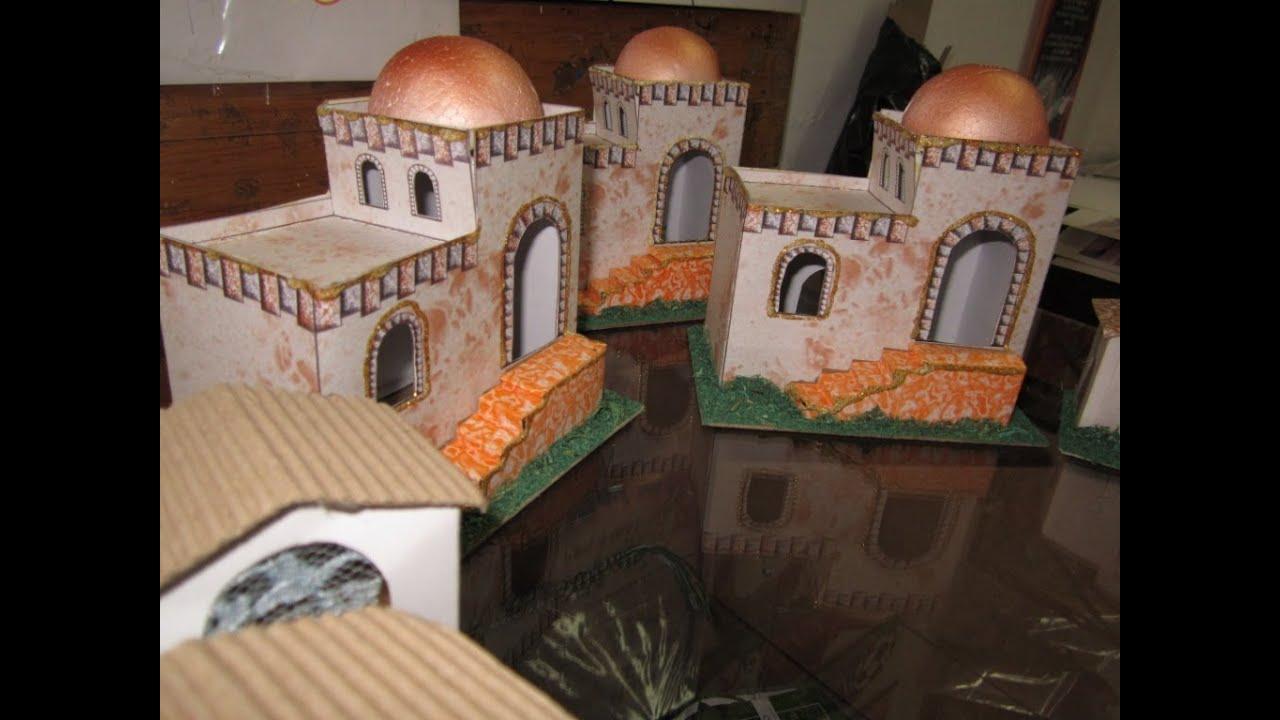 Como hacer una casita tipo bel n para pesebre youtube - Casas para belenes hechas a mano ...