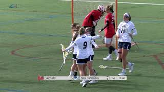 UNH Women's Lacrosse vs Fairfield Highlights 03/03/18