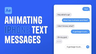 After Effects Tutorial - Animating iPhone text messages