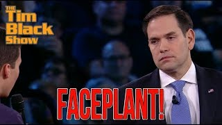 Marco Rubio Faceplants During CNN Town Hall Event